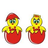 Κοτόπουλο στο αυγό Στοκ φωτογραφίες με δικαίωμα ελεύθερης χρήσης