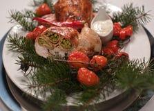 Κοτόπουλο Χριστουγέννων,   Στοκ Εικόνες