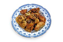 κοτόπουλο 2 που τηγανίζ&epsilon Στοκ εικόνα με δικαίωμα ελεύθερης χρήσης
