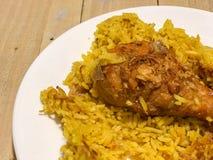 Κοτόπουλο Biryani με το ρύζι Στοκ Φωτογραφίες