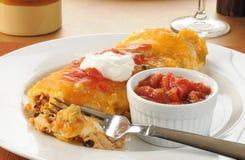 κοτόπουλο burrito Στοκ φωτογραφία με δικαίωμα ελεύθερης χρήσης