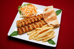 κοτόπουλο kabab shish Στοκ Εικόνες