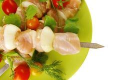 κοτόπουλο kebabs άψητο Στοκ Φωτογραφίες
