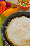 Κοτόπουλο Quesadillas με το τυρί στοκ εικόνα με δικαίωμα ελεύθερης χρήσης