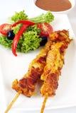 κοτόπουλο satay στοκ φωτογραφίες
