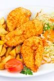 κοτόπουλο schnitzel Στοκ Φωτογραφίες