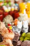 Κοτόπουλα αγαλμάτων Στοκ εικόνες με δικαίωμα ελεύθερης χρήσης