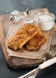 Κοτόπουλο ή χοιρινό κρέας schnitze στοκ φωτογραφίες