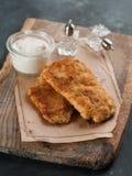 Κοτόπουλο ή χοιρινό κρέας schnitze στοκ εικόνα