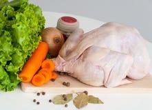 Κοτόπουλο ακατέργαστο στοκ εικόνα