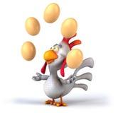 Κοτόπουλο διασκέδασης διανυσματική απεικόνιση