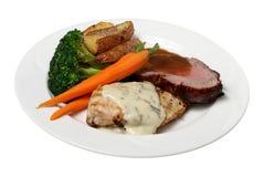 Κοτόπουλο και βόειο κρέας στοκ εικόνες