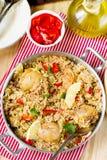 Κοτόπουλο και ρύζι με τα λαχανικά Στοκ εικόνες με δικαίωμα ελεύθερης χρήσης