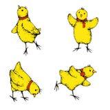 κοτόπουλο κινούμενων σχεδίων που απομονώνεται Στοκ Φωτογραφίες
