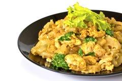 Κοτόπουλο με τα νουντλς και τα λαχανικά ρυζιού Στοκ φωτογραφίες με δικαίωμα ελεύθερης χρήσης