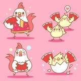 Κοτόπουλο με το κινεζικό νέο έτος Στοκ φωτογραφία με δικαίωμα ελεύθερης χρήσης