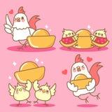 Κοτόπουλο με το κινεζικό νέο έτος Στοκ Εικόνες