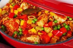 Κοτόπουλο με το ρύζι Arroz Con Pollo Στοκ φωτογραφία με δικαίωμα ελεύθερης χρήσης