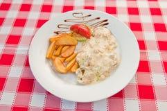 Κοτόπουλο με cream01 Στοκ εικόνα με δικαίωμα ελεύθερης χρήσης