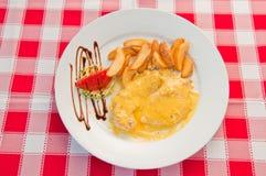 Κοτόπουλο με cream03 Στοκ εικόνα με δικαίωμα ελεύθερης χρήσης
