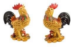 Κοτόπουλο που εξωραΐζεται με το χρυσό Στοκ εικόνες με δικαίωμα ελεύθερης χρήσης