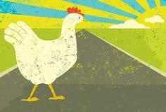 κοτόπουλο που διασχίζ&epsil Στοκ Εικόνες