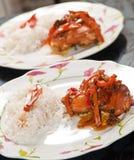 κοτόπουλο που μαγειρεύεται Στοκ Εικόνες
