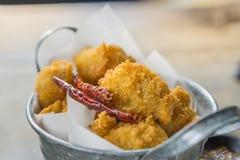 Κοτόπουλο που τηγανίζεται με το μαλακό φως Στοκ φωτογραφίες με δικαίωμα ελεύθερης χρήσης