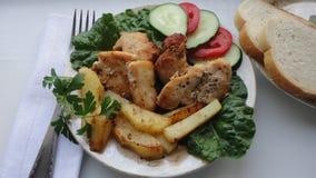 κοτόπουλο που τηγανίζεται Στοκ φωτογραφία με δικαίωμα ελεύθερης χρήσης
