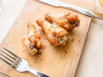 κοτόπουλο που τηγανίζεται στοκ φωτογραφία