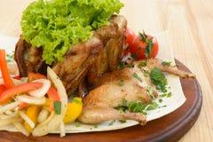 κοτόπουλο που τηγανίζεται Στοκ Φωτογραφίες