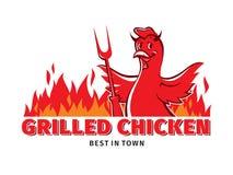 κοτόπουλο που ψήνεται στη σχάρα ελεύθερη απεικόνιση δικαιώματος
