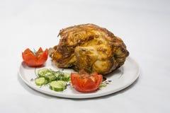 κοτόπουλο που ψήνεται στη σχάρα Στοκ Εικόνες
