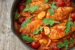 Κοτόπουλο στα ιταλικά Στοκ Εικόνες