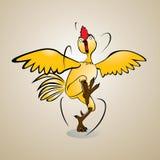 κοτόπουλο τρελλό Στοκ φωτογραφία με δικαίωμα ελεύθερης χρήσης
