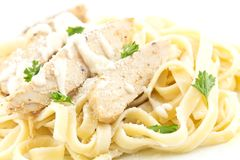 Κοτόπουλο Fettuccini Alfredo στοκ εικόνα
