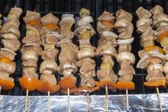 κοτόπουλο kabob shish στοκ εικόνες με δικαίωμα ελεύθερης χρήσης