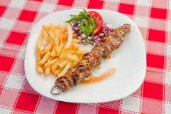 κοτόπουλο kebabs Στοκ Εικόνες
