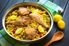 Κοτόπουλο Paella Στοκ εικόνα με δικαίωμα ελεύθερης χρήσης