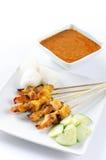Κοτόπουλο satay στοκ εικόνα