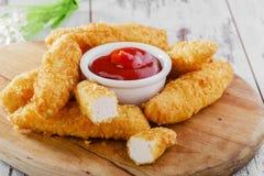 Κοτόπουλο stripsy στοκ εικόνες