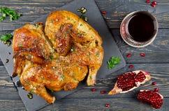 Κοτόπουλο Tabaka (της Γεωργίας παραδοσιακή κουζίνα) Στοκ Φωτογραφία