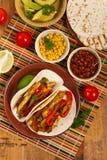 Κοτόπουλο Tacos Fajita Στοκ Φωτογραφίες