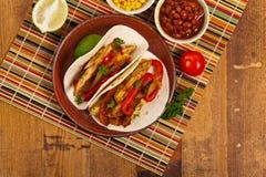 Κοτόπουλο Tacos Fajita Στοκ φωτογραφία με δικαίωμα ελεύθερης χρήσης