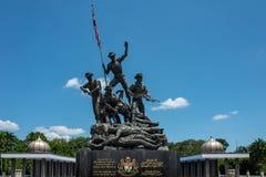 Κουάλα Λουμπούρ, Μαλαισία - 27 Φεβρουαρίου 2019: Το εθνικό μνημείο της Μαλαισίας 15 μέτρα προσδιορίζεται ως μεγαλύτερο στοκ εικόνες