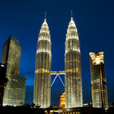 Κουάλα πύργοι της Λουμπούρ, Μαλαισία Petronas. Στοκ φωτογραφία με δικαίωμα ελεύθερης χρήσης