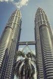Κουάλα Λουμπούρ, Μαλαισία, 18.2013 Δεκεμβρίου: Δίδυμοι πύργοι Petronas, Kua Στοκ Φωτογραφίες