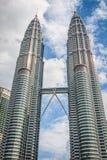 Κουάλα Λουμπούρ, Μαλαισία, 18.2013 Δεκεμβρίου: Δίδυμοι πύργοι Petronas, Kua Στοκ φωτογραφία με δικαίωμα ελεύθερης χρήσης