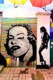 Κουάλα Terengganu, Μαλαισία - 11 Απριλίου 2015: Mural decoratin τέχνης Στοκ Φωτογραφίες