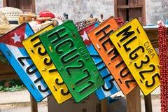 Κουβανικά αναμνηστικά αγοράς οδών στοκ φωτογραφία με δικαίωμα ελεύθερης χρήσης